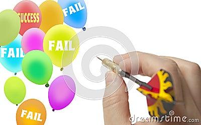 Aim success balloon