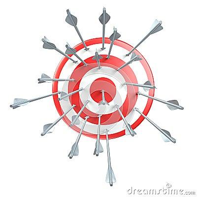 Aim, target, arrows