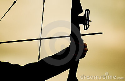 Aimed bow silhouette