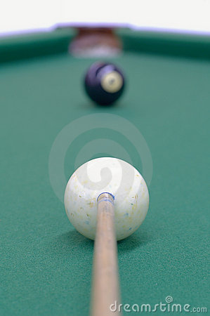 Free Aiming At Black Ball Stock Photography - 7036142
