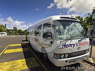 Aiport Transport Bus, Sunshine Coast Editorial Image