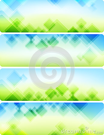 Air abstract backgrounds. Four banners.