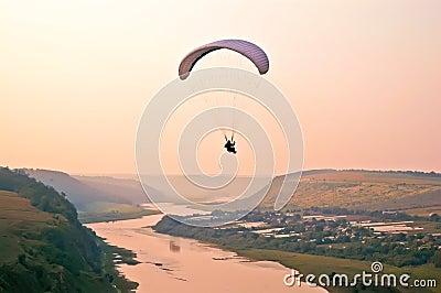Air adventure- paragliding above river
