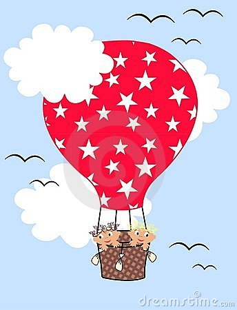 Air balloon children pattern