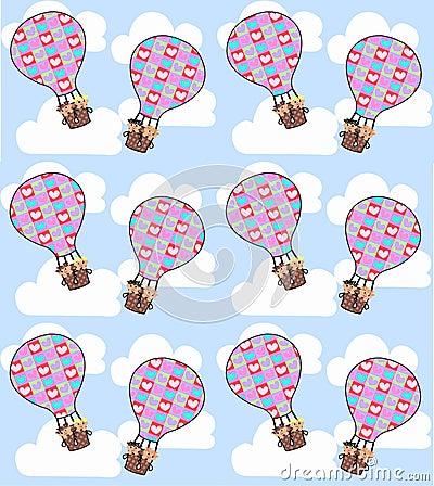 Free Air Balloon Seamless Stock Photos - 14835983