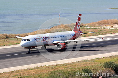 Air Berlin Airbus A320 on runway Editorial Photography