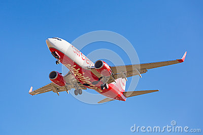 Air Berlin aircraft landing on the airport Editorial Photography