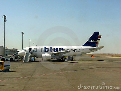 Air Blue Aircraft Editorial Image