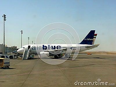 Air Blue Aircraft Editorial Image