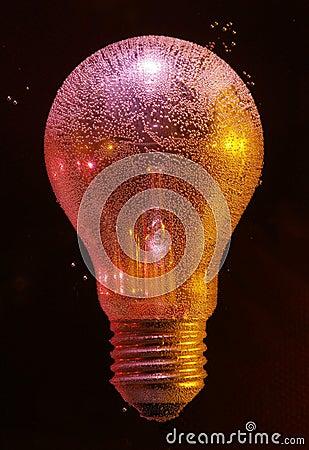 Air bubbles on bulb