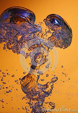 Air bubbles on orange