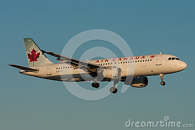 Air Canada Airbus A320 Aircraft Editorial Stock Image