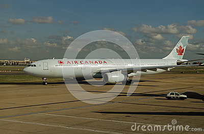 Air Canada airbus, Heathrow Editorial Photo