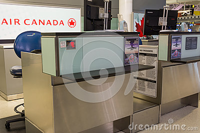Air Canada Counter Editorial Stock Image