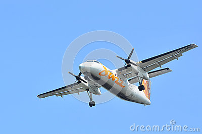 Air Canada Jazz flight taking off Editorial Stock Image