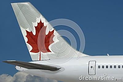 Air Canada plane. Sky. Editorial Stock Image
