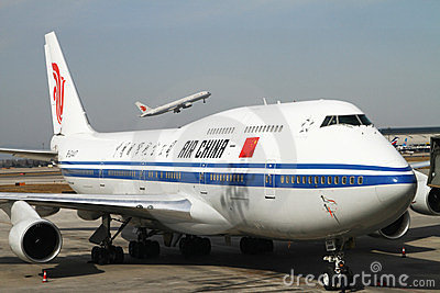 Air China Boing 747 Jumbo Jet Editorial Stock Photo