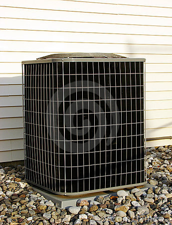 Free Air Conditioner AC Condenser Unit Outside House Royalty Free Stock Images - 1456929