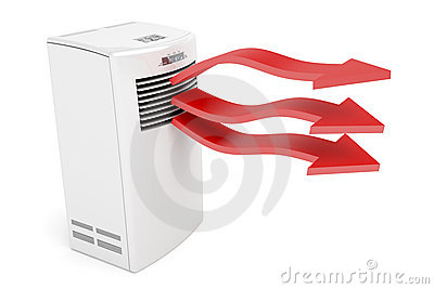 Air conditioner blowing hot air
