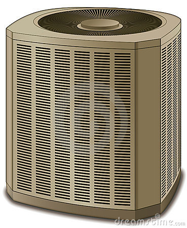 Free Air Conditioner Conditioning Unit Beige Stock Photo - 14995400