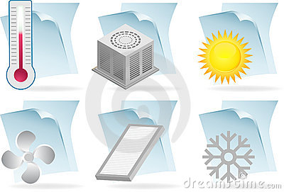 Air Conditioner Document Icons