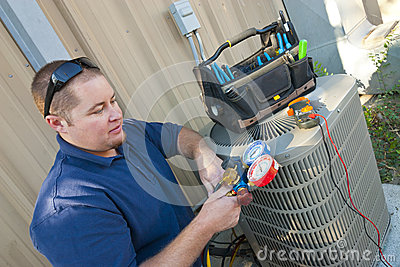 Air Conditioner Repair Man Stock Photos Image 27415733