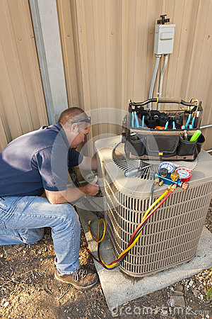 Air Conditioner Service Man