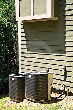 Air Conditioner Units on House