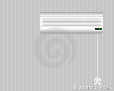 Air conditioner on wall