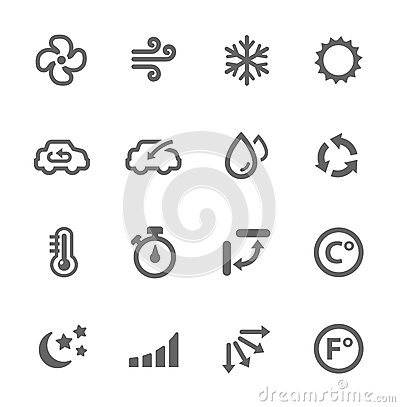 Free Air Conditioning Icons Stock Images - 32323044