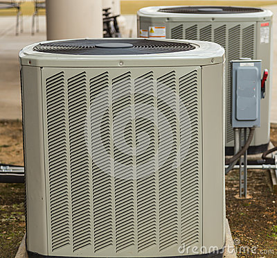 Air conditioning outside umit stock photo image 37720830 for Air conditioner pad concrete