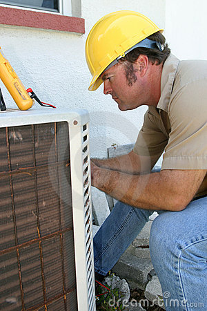 Free Air Conditioning Repairman 1 Stock Photo - 122460