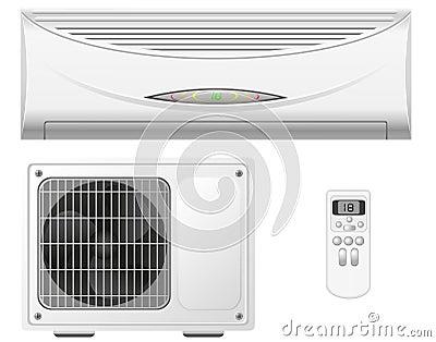 Air conditioning split system  illustration