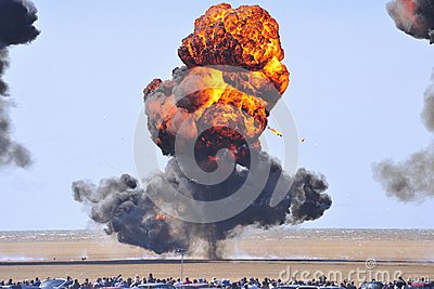Seaside explosions Editorial Stock Photo