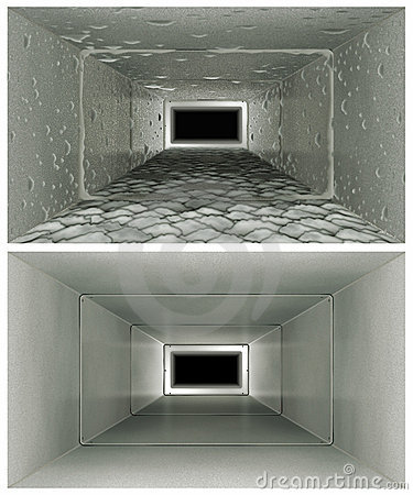 Free Air Duct Cleaning Before & After Stock Image - 14203321