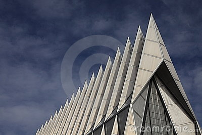 Air Force Chapel spires Editorial Photo