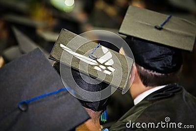 Air Force Member at University Graduation Editorial Stock Image