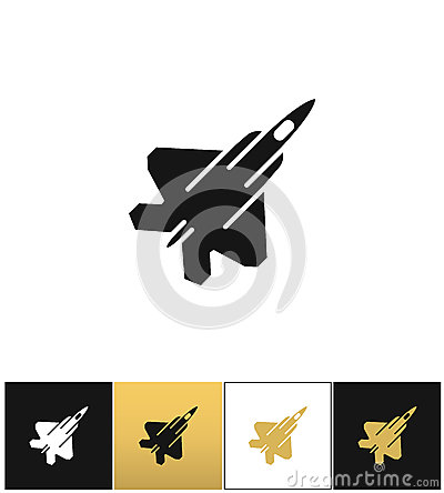 Free Air Force Navy Airforce Vector Military Plane Or Fighter Jet Icon Royalty Free Stock Photo - 80241105