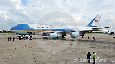 Air Force One Fotografia Editorial