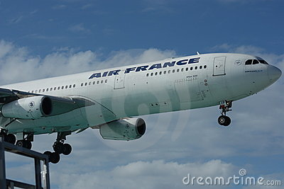 Air France - Airbus A340 Landing Editorial Photo
