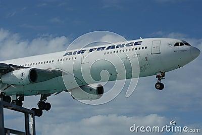Air France - Airbus A340 Landing Editorial Photo