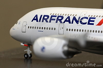 Air France Airbus A380 model Editorial Photography