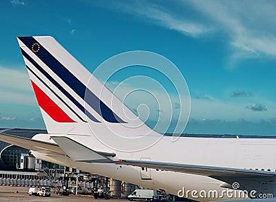 Air France airplane. Editorial Photo