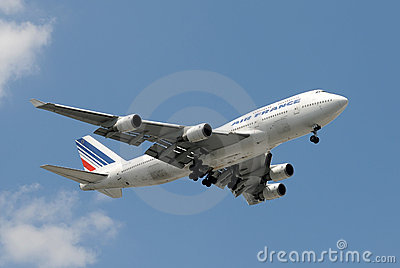 Air France jumbo jet Editorial Photo