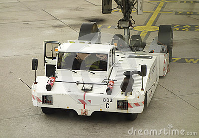 Air France pushback tractor at Orly Airport in Paris Editorial Stock Photo
