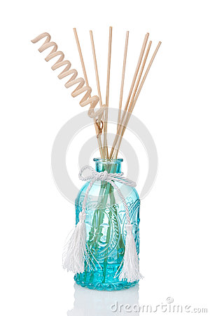 Air freshener bottle with scented sticks
