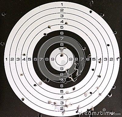 Free Air Gun Target And Holes Stock Photos - 107255493