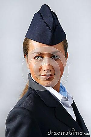 Air hostess. Portrait