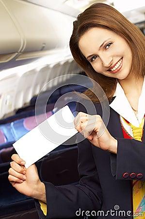Free Air Hostess (stewardess) Royalty Free Stock Photo - 1956915