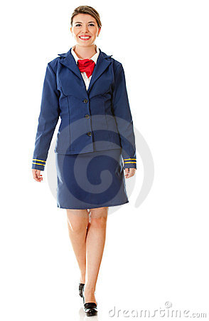 Air hostess walking